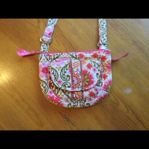 VERA BRADLEY Crossbody Bag Pink/Green Floral Small